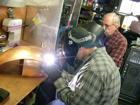 Jesse James And Fay Butler Welding Copper Note The Three